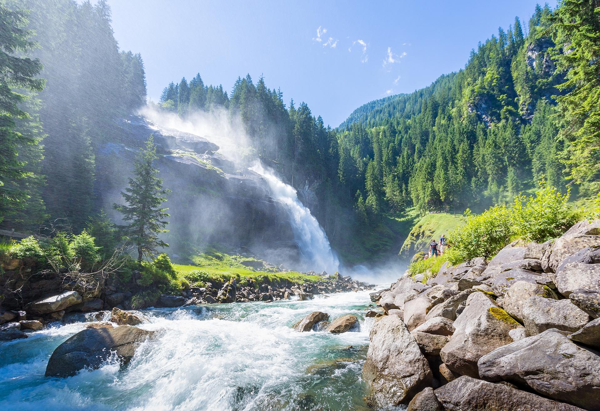 The-Krimml-Waterfalls-in-the-High-Tauern-National-Park-Salzburg-Austria