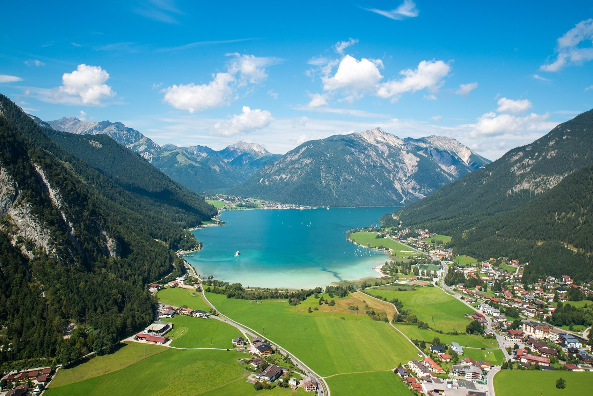 Aerial-view-from-Achensee-in-Tyrol-Austria-Achensee-bird-view