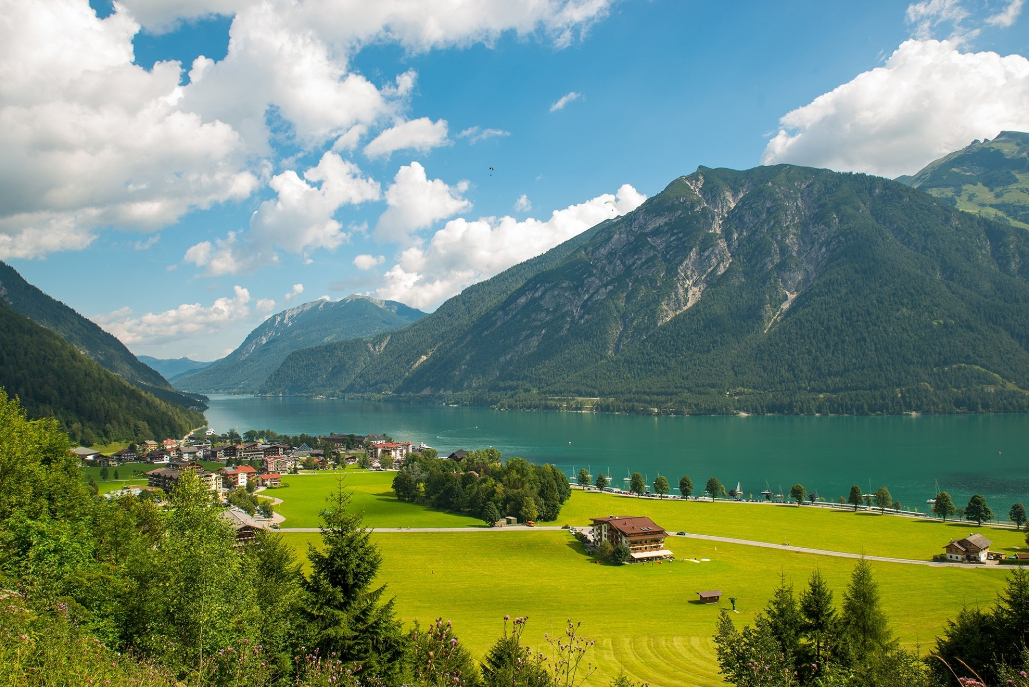 View-of-the-nice-Achensee-in-the-Tyrolean-alps