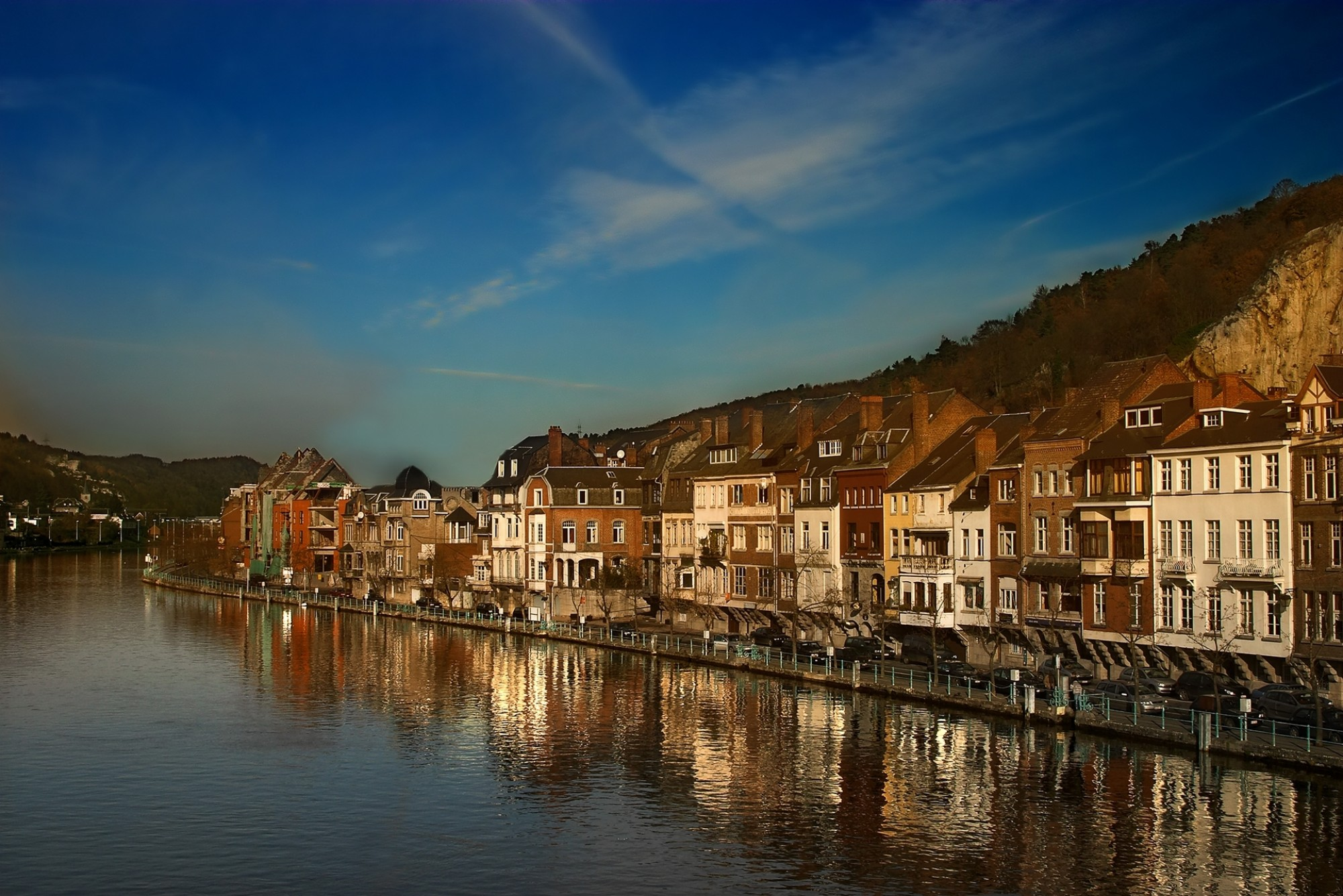 The-beautiful-city-of-Dinant-Belgium-along-the-river-Meuse