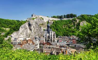 Dinant-bird-fly-view.-Summer-day.-Belgium