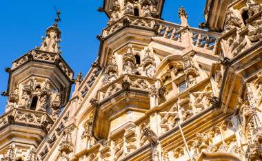 Gothic-city-hall-of-Leuven-Flemish-Region-Belgium