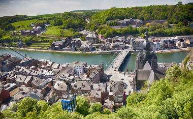 Panorama-of-town-Dinant-in-Belgian-Ardennes