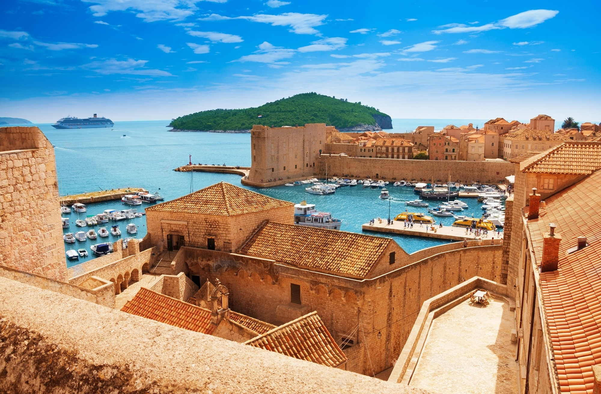 Port-of-Dubrovnik-from-the-old-city-walls
