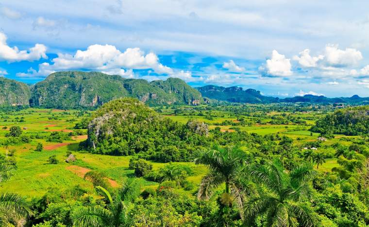 The Vinales valley in Cuba a famous tourist destination and a major tobacco growing area 86722891 c Kamira