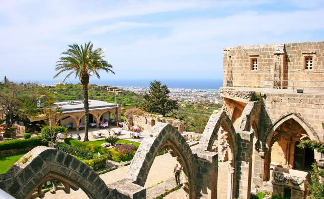 Historic Bellapais Abbey in Kyrenia Northern Cyprus