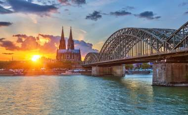 View-on-Cologne-at-sunset