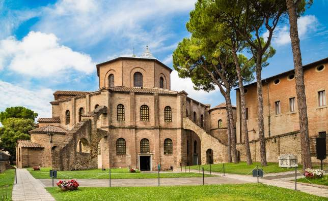 Basilica di San Vitale one of the most important examples of early Christian Byzantine art in western Europe in Ravenna region of Emilia Romagna Italy