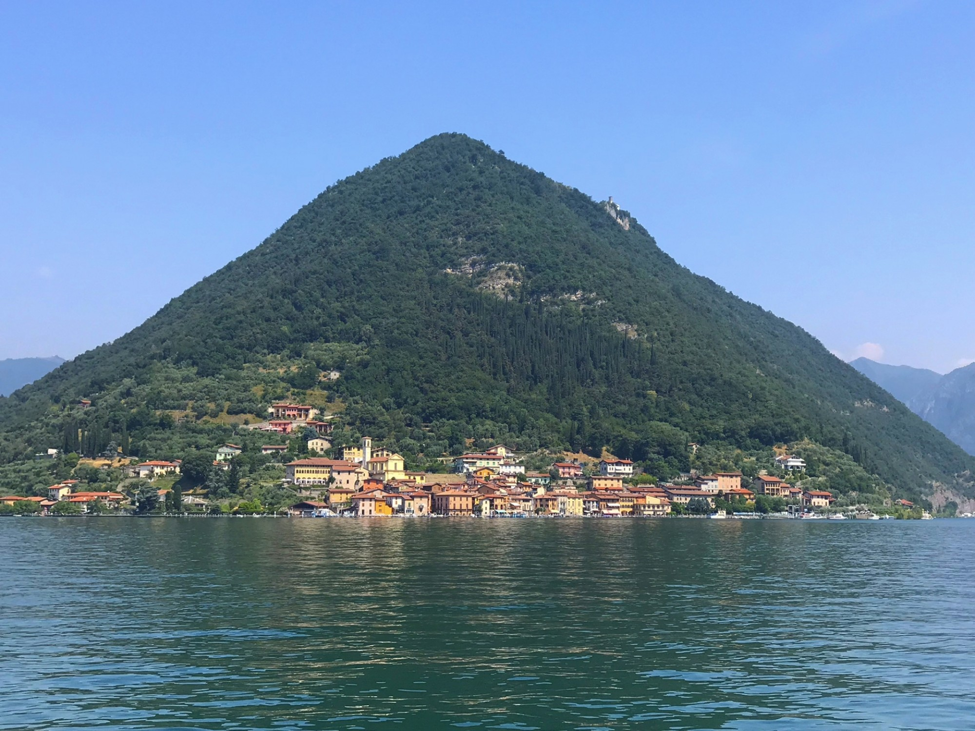 Monte isola from lake 2