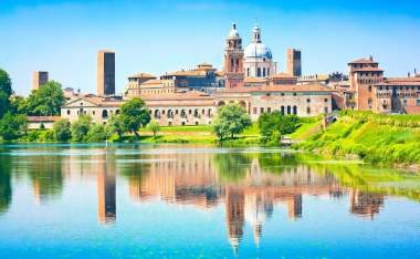 Medieval city of Mantua in Lombardy Italy Montova