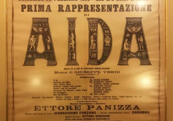 Old Aida poster La Scala Milan