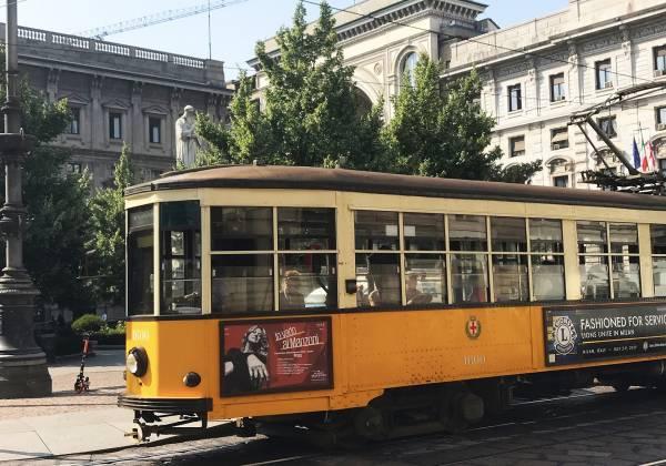 Traditional tram Milan