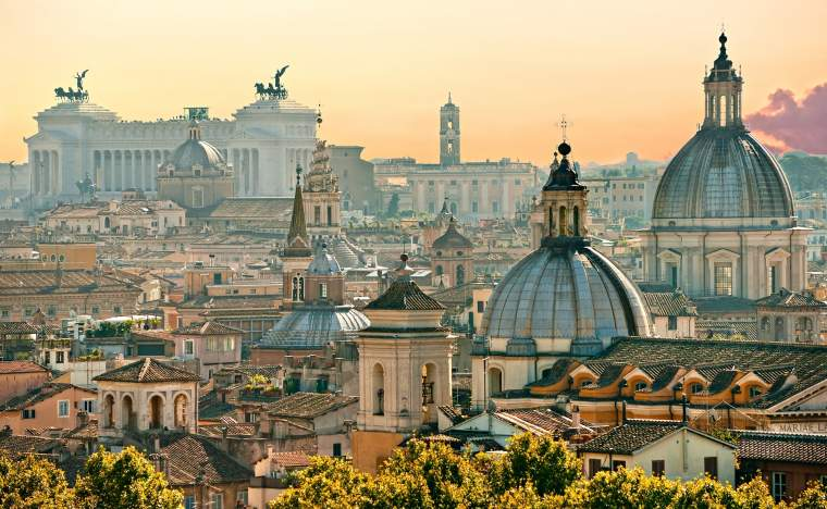 View-of-Rome-from-Castel-Sant Angelo-Italy