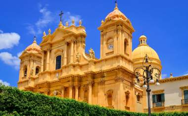View-of-baroque-style-cathedral-in-old-town-Noto-Sicily-Italy