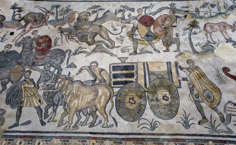 Europe-italy-sicily-mosaics-of-the-Casale-Roman-Villa-in-the-Piazza-Armerina