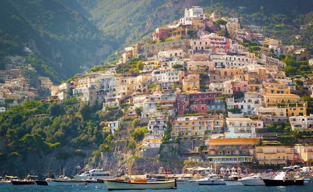 Positano-from-the-sea-Amalfi-Coast-Italy