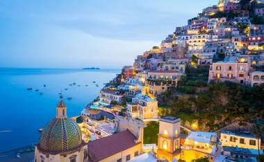 Sunset-in-Positano-Amalfi-Coast-Salerno-Naples-Italy