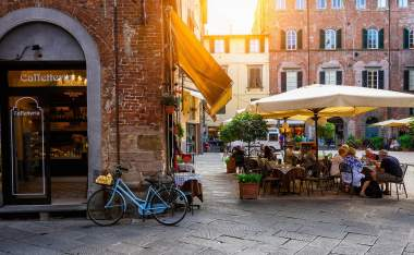 Old-cozy-street-in-Lucca-Italy.-Lucca-is-a-city-and-comune-in-Tuscany.-It-is-the-capital-of-the-Province-of-Lucca