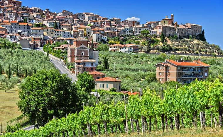 City-of-Chianciano-Terme-in-the-province-of-Siena-in-Tuscany-Italy