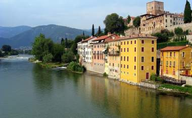 Bassano-del-Grappa-city-view-from-the-Alpini-bridge