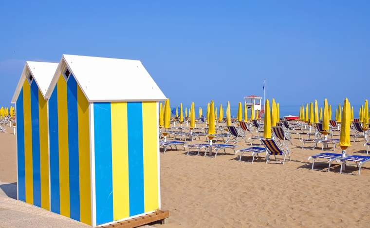 Beach-on-the-venetian-Riviera-near-Lido-di-Jesoloadriatic-sea Italy