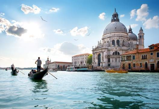 Old-cathedral-of-Santa-Maria-della-Salute-in-Venice-Italy