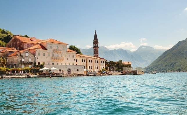 The-old-town-of-Perast-in-Boka-Kotorska-Bay.-Montenegro