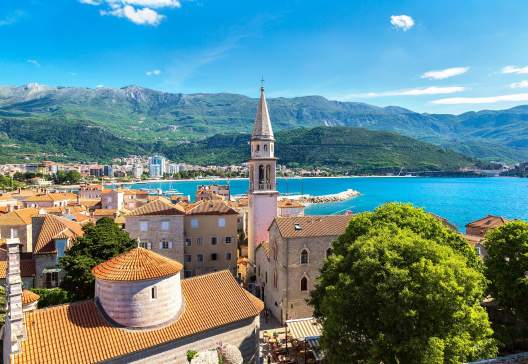 Old-town-in-Budva-in-a-beautiful-summer-day-Montenegro