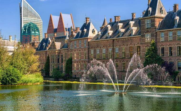 The-Hague-capital-of-Netherlands-Binnenhof-palace-place-of-Parliament