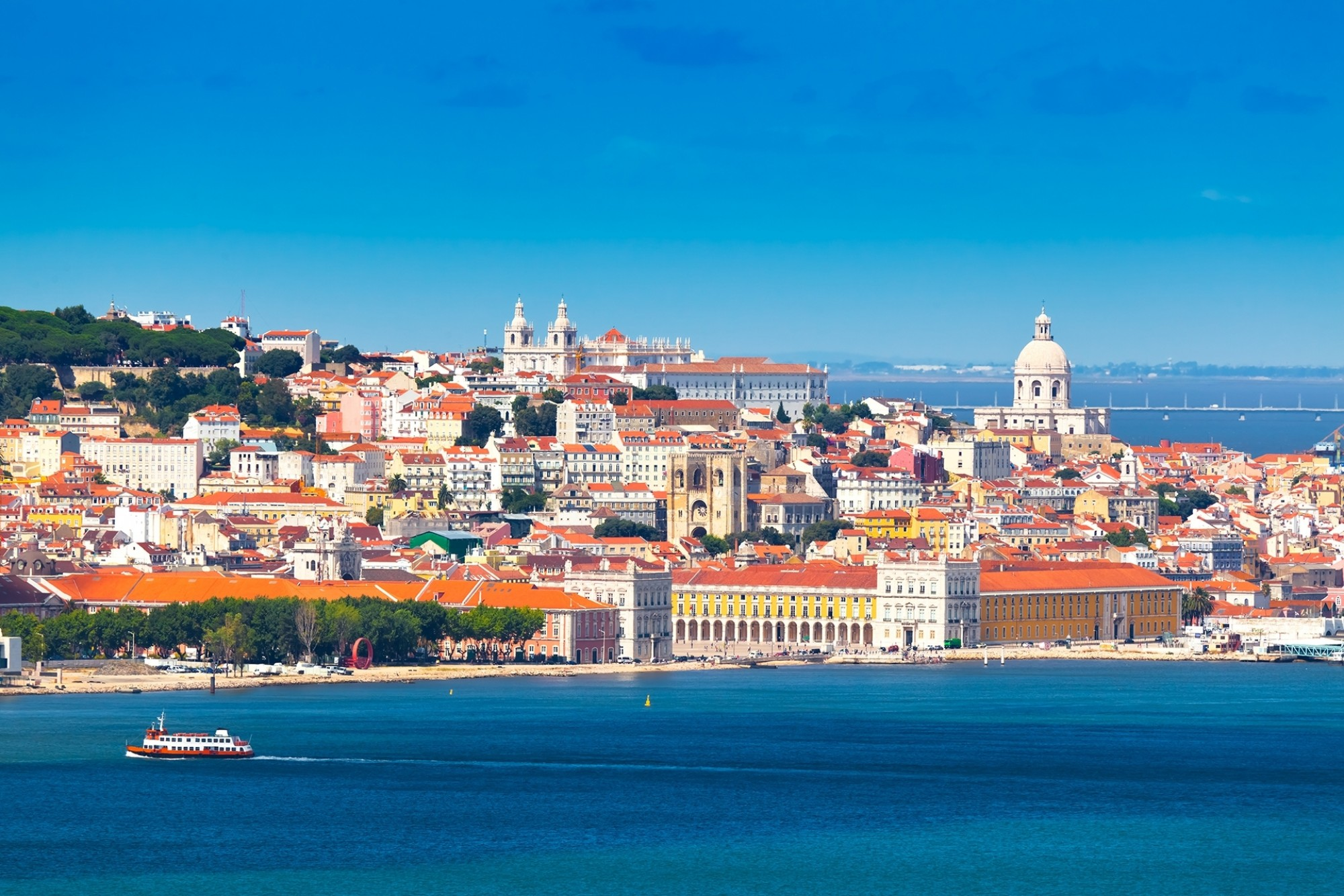 Lisbon-Skyline-as-seen-from-Almada-Portugal