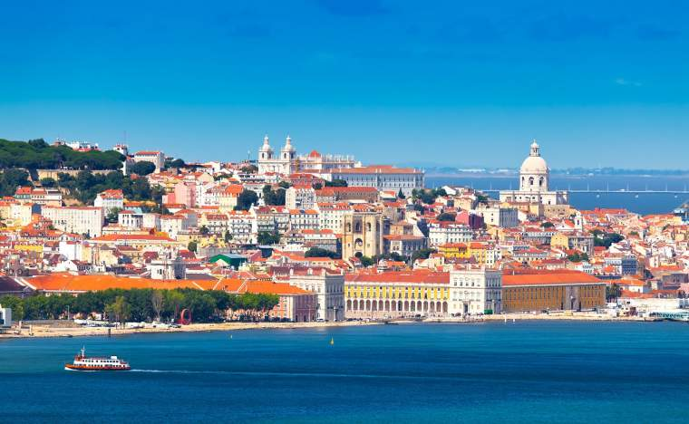 Lisbon-Skyline-as-seen-from-Almada-Portugal