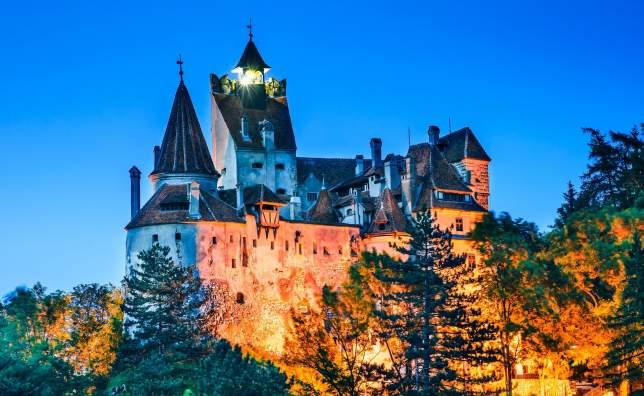 Bran Castle Romania Medieval fortification in Transylvania known for Dracula myth Brasov County Romania