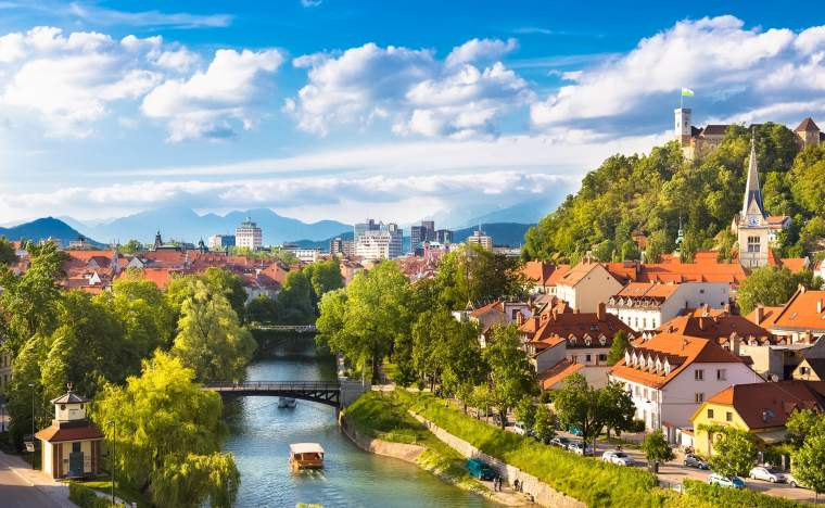 Cityscape-of-the-Slovenian-capital-Ljubljana