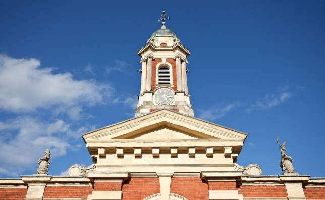Stable-Block-Tower-of-Wimpole-Estate-near-Cambridge-in-England