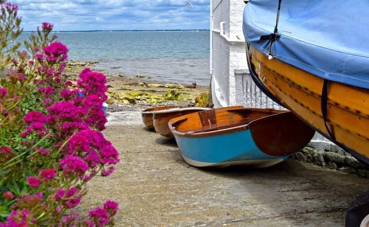 Boats-on-the-Isle-of-Wight-England
