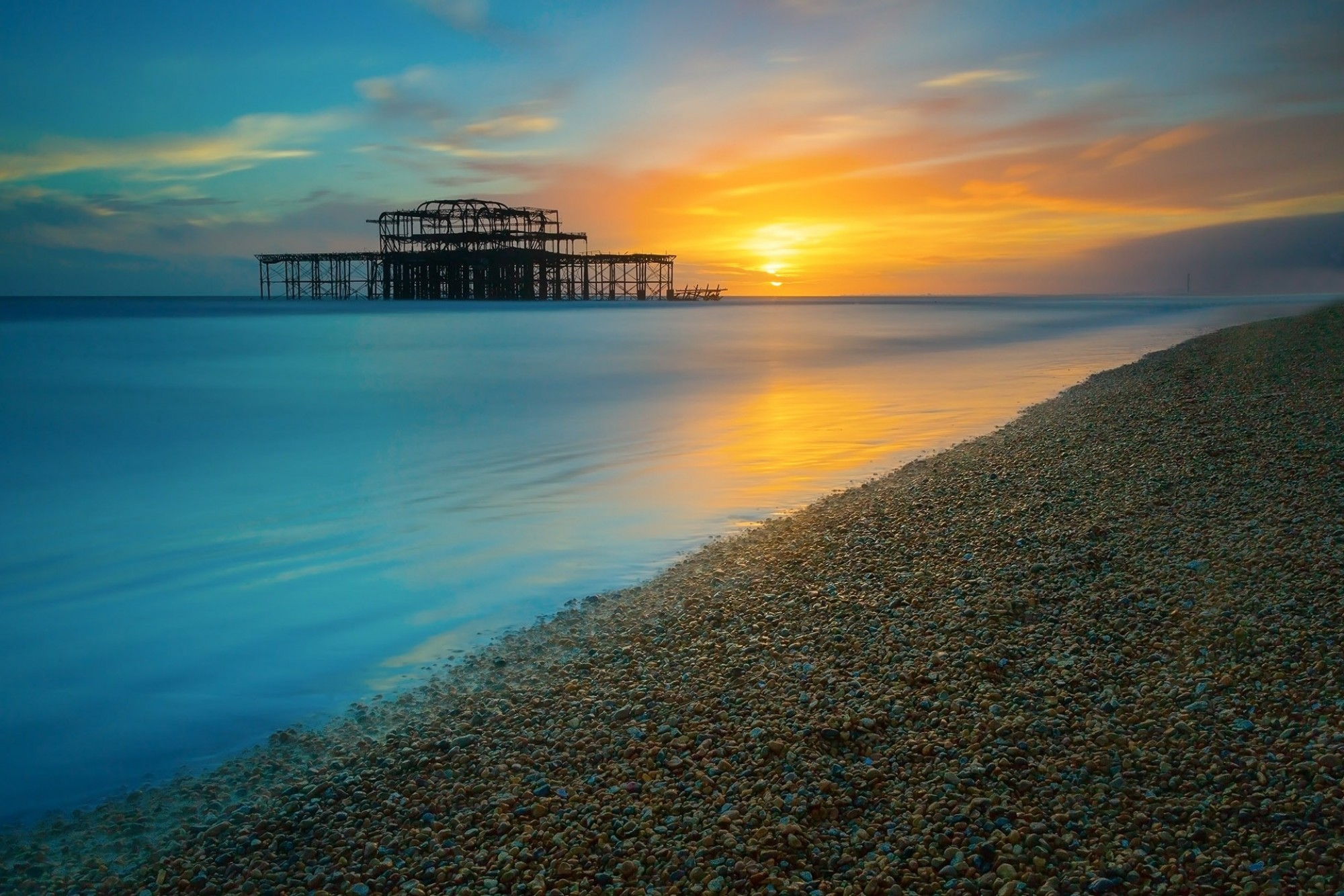 Brighton-West-Pier-at-Sunset-Sussex