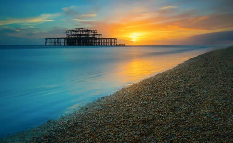 Brighton-West-Pier-at-Sunset-Sussex