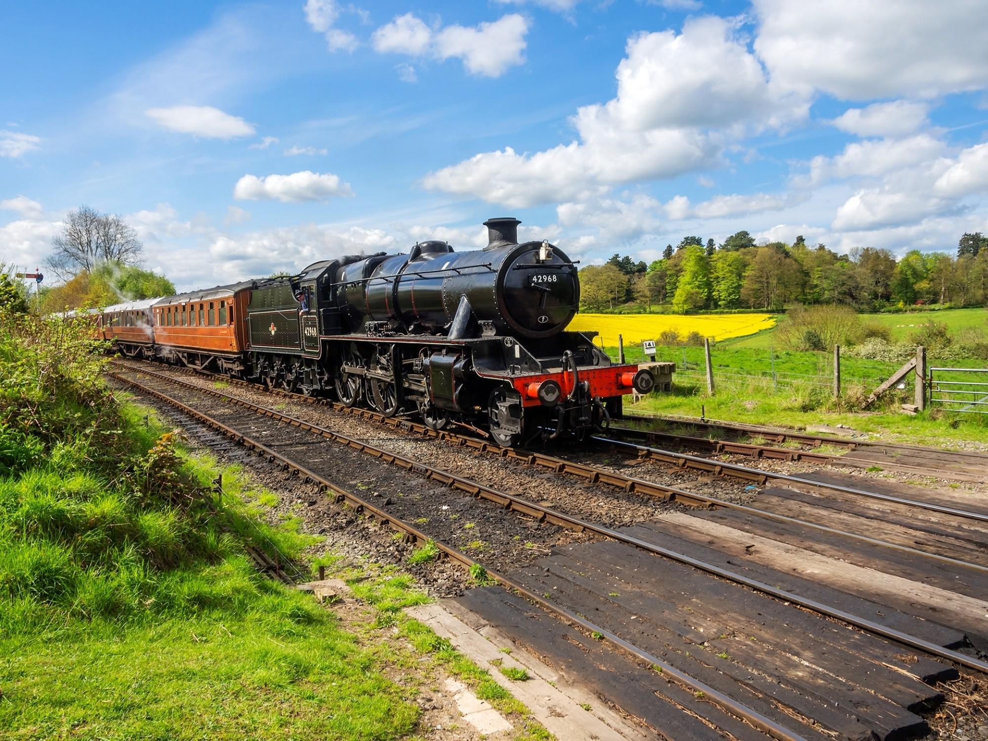Worcestershire severn valley preserved steam railway arley