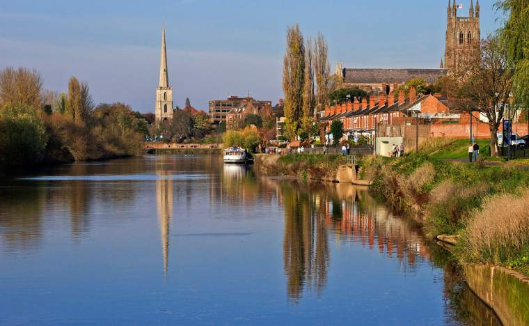 The river severn worcester