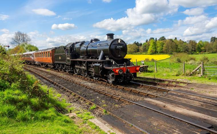 Worcestershire severn valley preserved steam railway arley