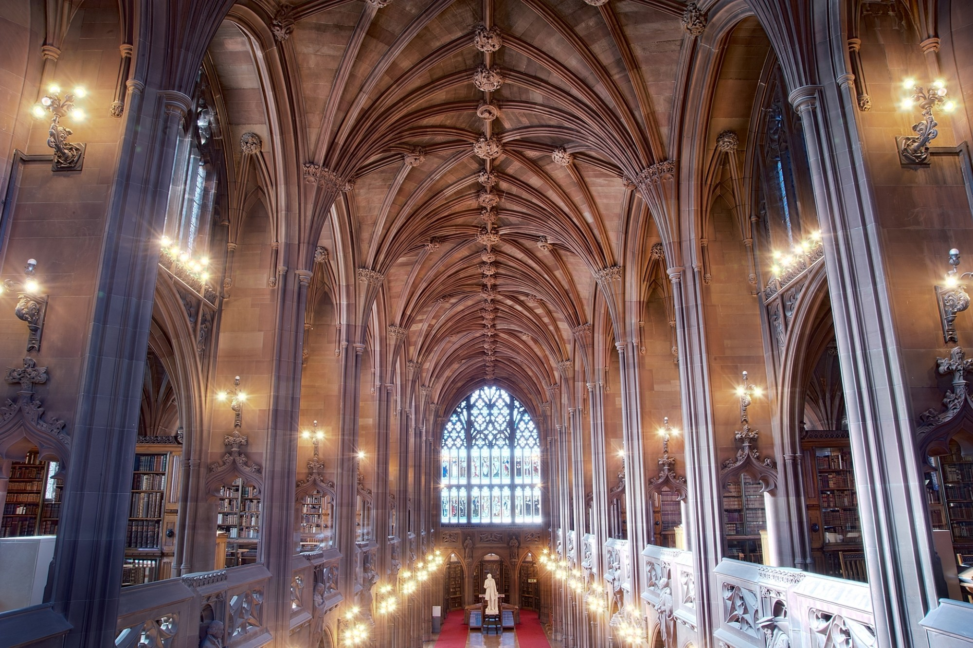 Interior view of John Rylands Library Visit England Percy Dean