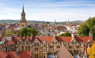 Oxford viewed from St Mary the Virgin Church England