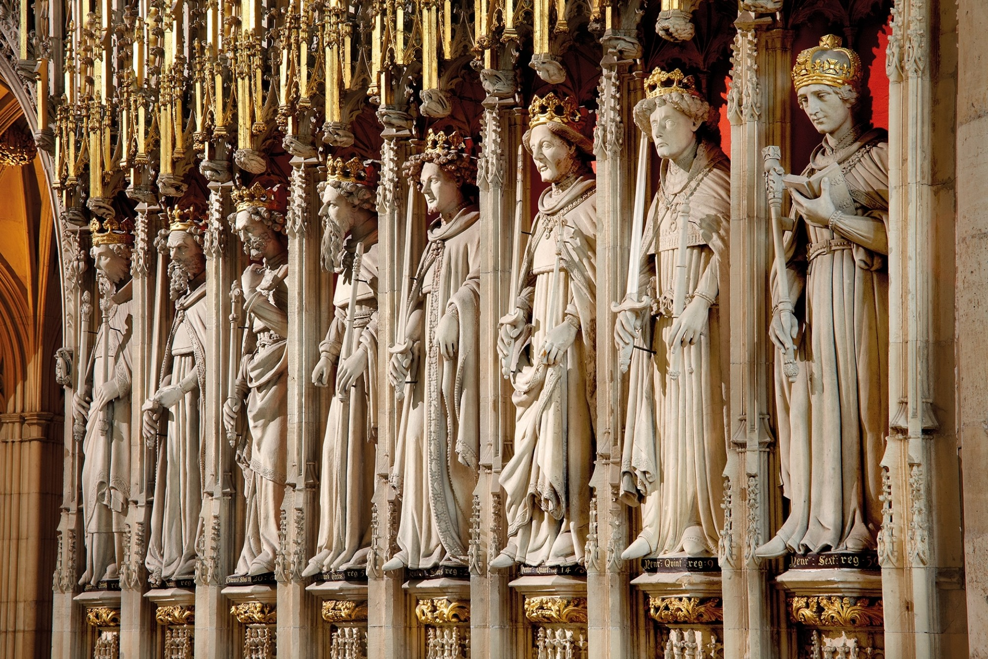Eight-kings-in-the-Quire-at-York-Minster