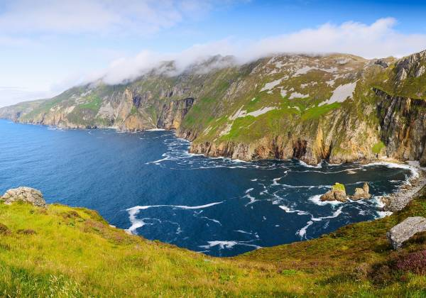 Panorama with Cliffs Slieve League County Donegal Ireland