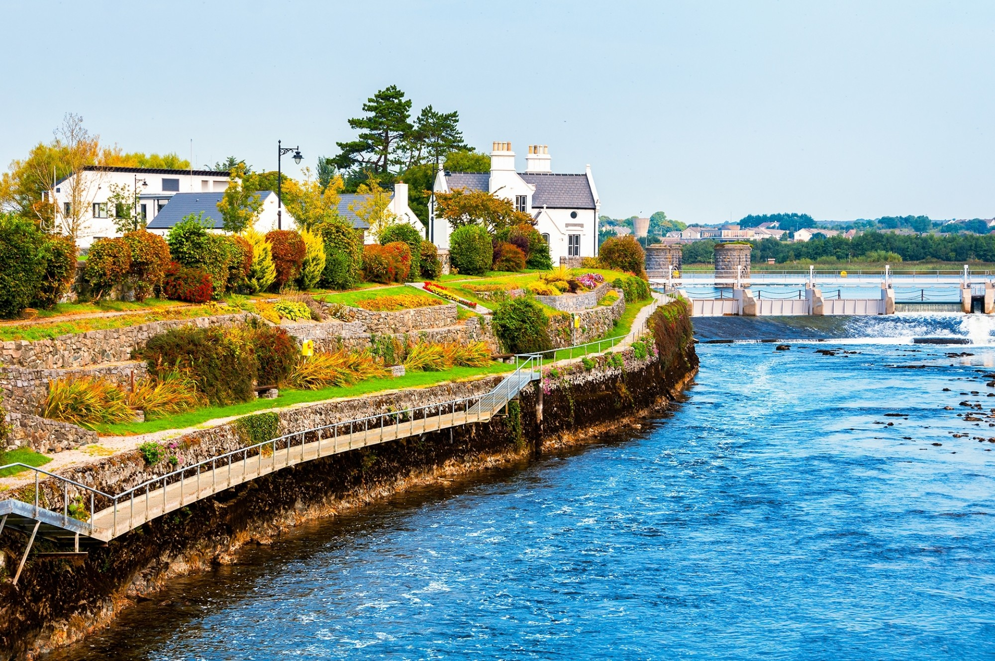 Beautiful landscape of Galway Ireland