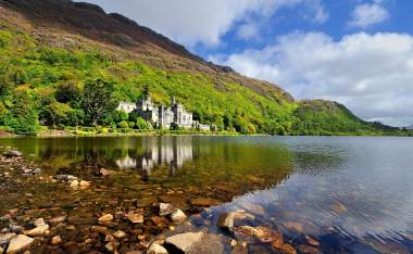 Kylemore Abbey in Connemara County Galway Ireland