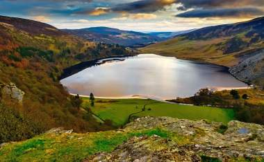 Lake on top of the Wicklow Mountains Ireland
