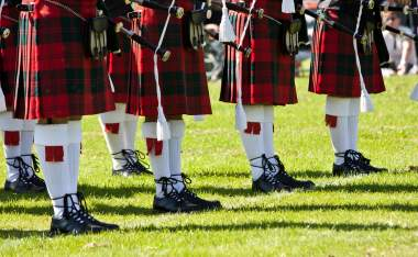 Detail-of-original-Scottish-kilts-during-Highlands-games