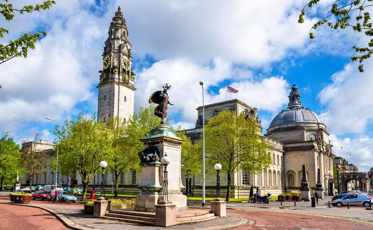 View-of-City-Hall-of-Cardiff-Wales-Great-Britain