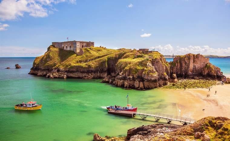 St Catherines Island Tenby Pembrokeshire Wales U K